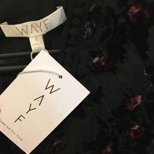 WAYF Dresses - New WAYF *V neck* Bennet Velvet Shift Mini Dress